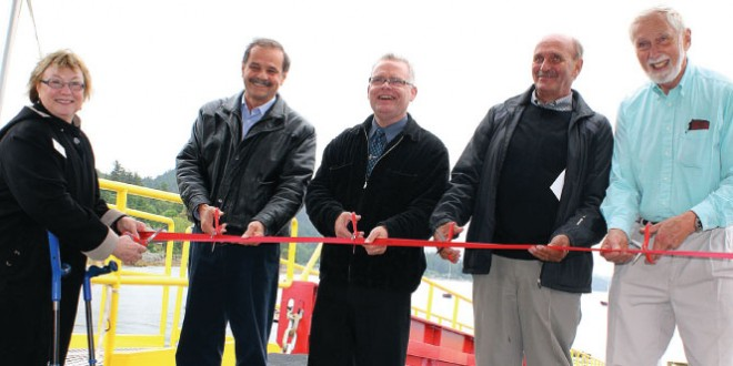 Gibsons celebrates harbour expansion