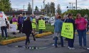 Care home protested while community learns details