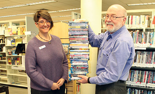 Library stocked with new films