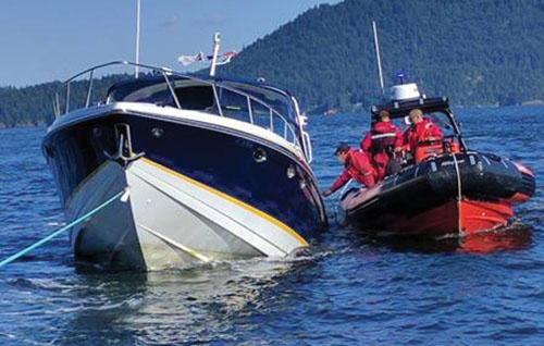 7 rescued off Keats Island by SAR