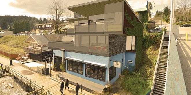 """""""Daring"""" two-storey residence proposed for Gibsons waterfront"""