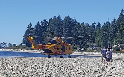 Rescue chopper lands in Creek