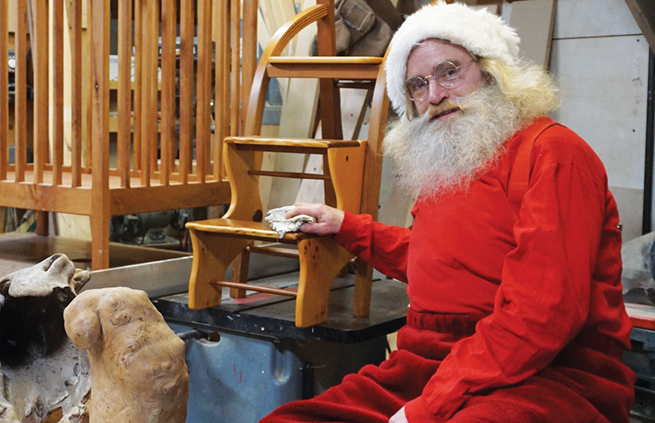 Santa visits Roberts Creek workshop